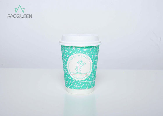 China Extra Protection Custom Logo Paper Cups , Custom Printed Takeaway Coffee Cups supplier