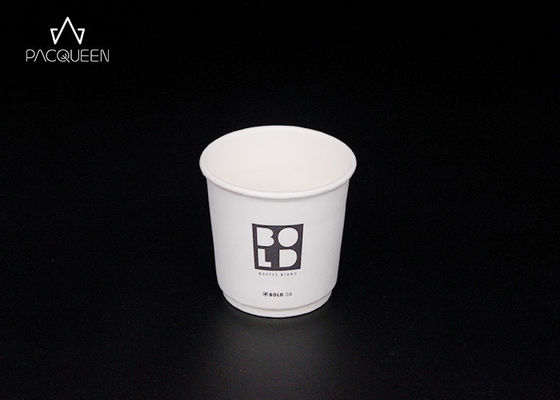 China Double Layer Custom Disposable Paper Cups Logo Branded For Hot Beverages supplier