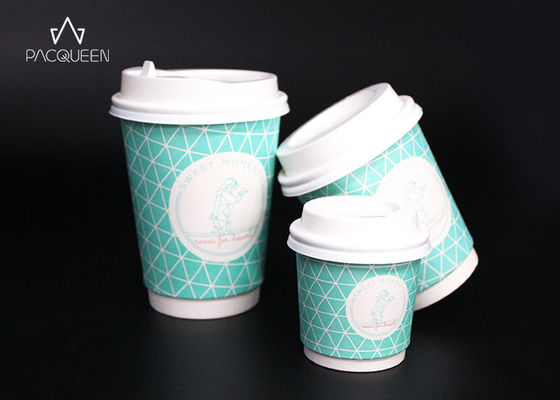 China Cardboard Double Wall Espresso Cups , Double Wall Paper Cup PE / PLA Lined supplier