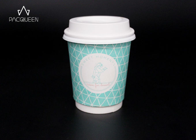 Cardboard Double Wall Espresso Cups , Double Wall Paper Cup PE / PLA Lined