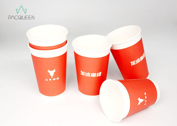 Insulated Double Wall Takeaway Coffee Cups Extra Protection For Hot Drinks